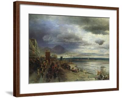 The Coast of Naples, 1877-Andreas Achenbach-Framed Giclee Print