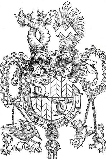 The Coat of Arms of Florian Waldauf, 1500-Albrecht D?rer-Giclee Print