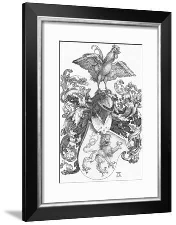 'The Coat of Arms with a Lion and a Cock', c1502-1503, (1906)-Albrecht Durer-Framed Giclee Print