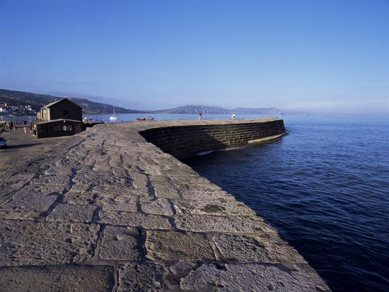 The Cobb, Lyme Regis, Dorset, England, United Kingdom-John Miller-Photographic Print