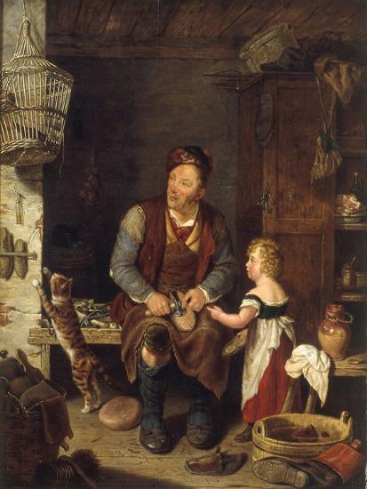 The Cobbler, 1839-Alexander Fraser-Giclee Print