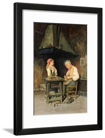 The Cobbler's Shop, 1874-Giuseppe Costantini-Framed Giclee Print
