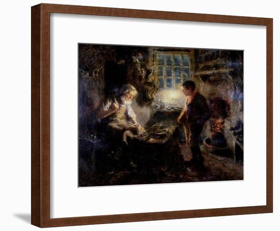 The Cobbler's Shop, 1909-Ralph Hedley-Framed Giclee Print