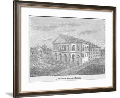 The Coccia Theatre in Novara--Framed Giclee Print