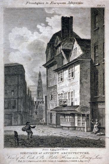 The Cock and Magpie Public House, Drury Lane, Westminster, London, 1807-Samuel Rawle-Giclee Print