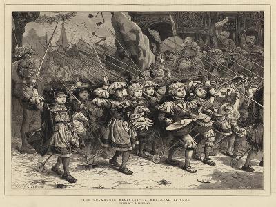 The Cockhorse Regiment, a Mediaeval Episode-Charles Joseph Staniland-Giclee Print