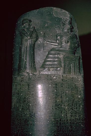 The Code of Hammurabi, 1792-1750 BC, 282 laws. Artist: Unknown-Unknown-Giclee Print