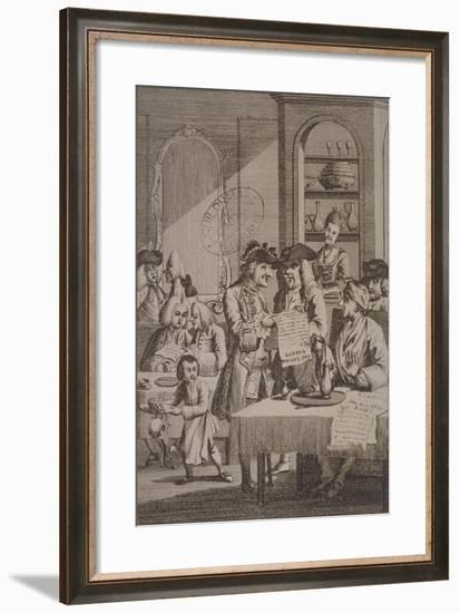 The Coffee-House Politicians, 1772--Framed Giclee Print
