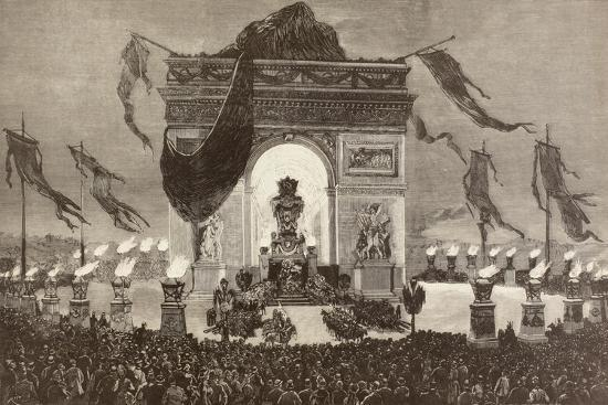 The Coffin of French Writer Victor Hugo--Giclee Print