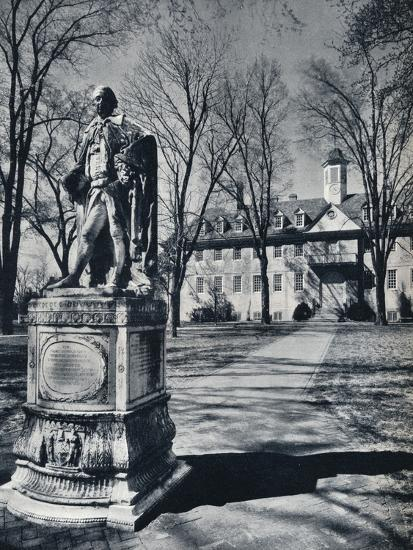 'The College of William and Mary', c1938-Unknown-Photographic Print