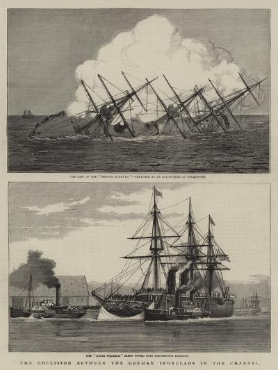 The Collision Between the German Ironclads in the Channel--Giclee Print