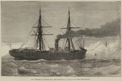The Collision in Dover Bay, the Franconia Backing from the Strathclyde--Giclee Print