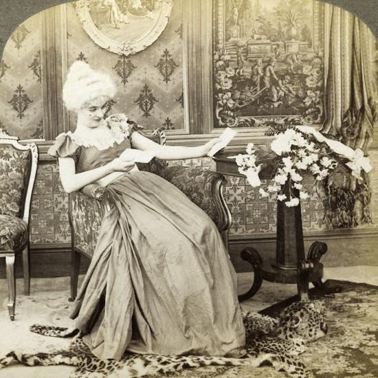 The Colonial Maiden's Dilemma, Two Proposals, Which Will Be Accepted-Underwood & Underwood-Photographic Print