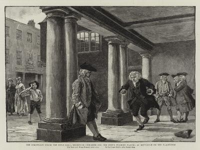 The Colonnade under the Town Hall-Charles Green-Giclee Print