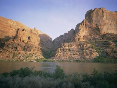 The Colorado River Flows Past Hole-In-The-Rock-Walter Meayers Edwards-Photographic Print