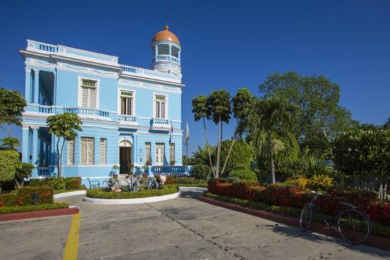 The Colorful Hostal Palacio Azul in the Punta Gorda Section of Cienfuegos-Michael Lewis-Photographic Print