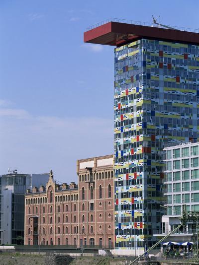 The Colorium Building by William Alsop at the Medienhafen, Dusseldorf, North Rhine Westphalia-Yadid Levy-Photographic Print
