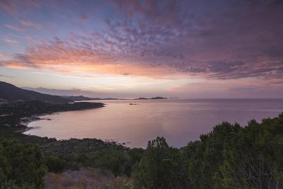 The Colors of Sunrise are Reflected on the Sea around the Beach of Solanas, Villasimius, Cagliari-Roberto Moiola-Photographic Print