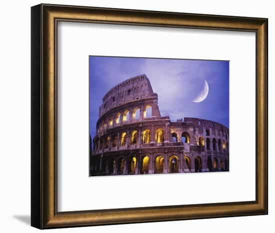 The Colosseum at Night, Rome, Italy-Terry Why-Framed Photographic Print