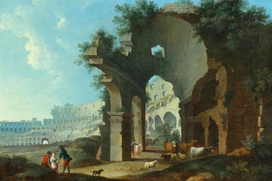 The Colosseum at Rome-Hendrik Van Lint-Giclee Print