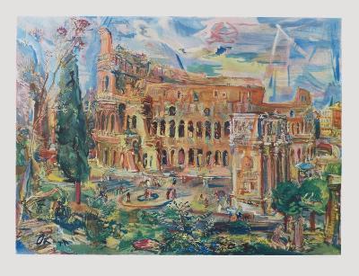 The Colosseum, Rome-Oskar Kokoschka-Collectable Print