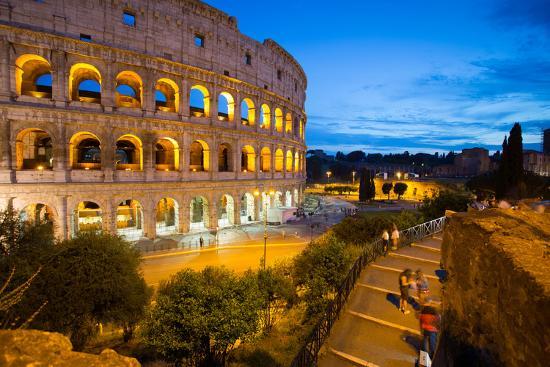 The Colosseum, UNESCO World Heritage Site, Rome, Lazio, Italy, Europe-Frank Fell-Photographic Print