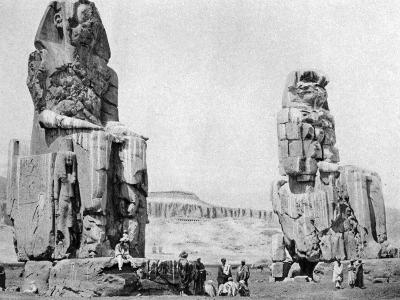 The Colossi of Memnon, Luxor (Thebe), Egypt, C1922--Giclee Print