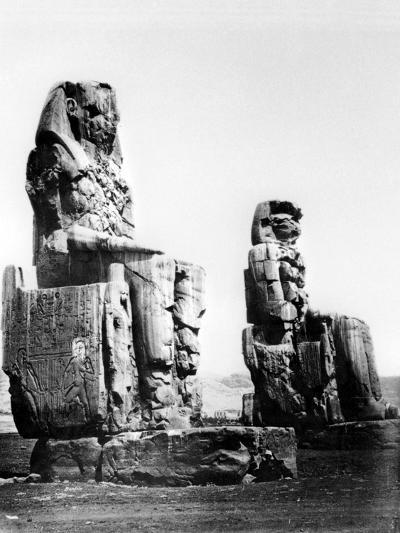 The Colossi of Memnon, Thebes, Nubia, Egypt, 1878-Felix Bonfils-Giclee Print