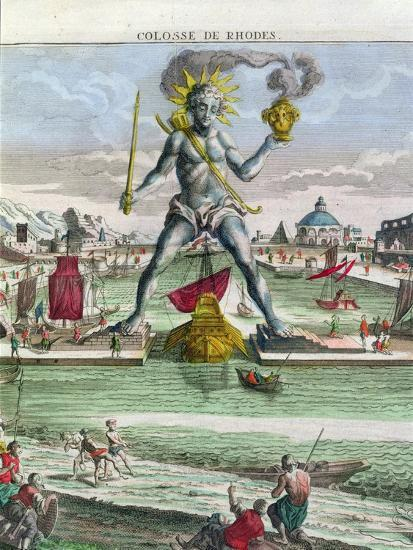 The Colossus of Rhodes, 18th century-Georg Balthasar Probst-Giclee Print