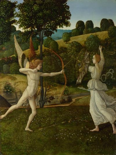 The Combat of Love and Chastity, Between 1475 and 1500-Gherardo di Giovanni del Fora-Giclee Print