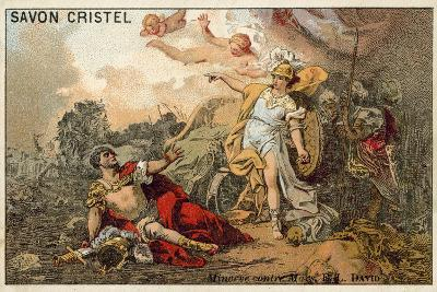 The Combat of Mars and Minerva-Jacques Louis David-Giclee Print