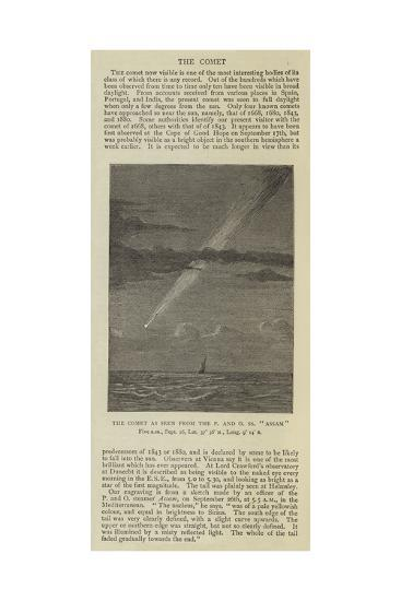 The Comet as Seen from the P and O SS Assam--Giclee Print