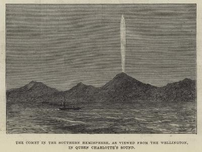 The Comet in the Southern Hemisphere, as Viewed from the Wellington, in Queen Charlotte's Sound--Giclee Print