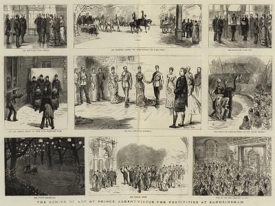 The Coming of Age of Prince Albert Victor, the Festivities at Sandringham-Sydney Prior Hall-Giclee Print