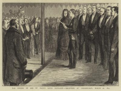 The Coming of Age of Prince Louis Napoleon, Reception at Chislehurst, 16 March 1874--Giclee Print