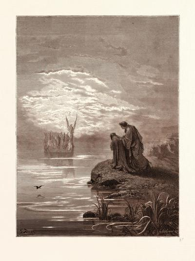 The Coming of the Boat-Gustave Dore-Giclee Print