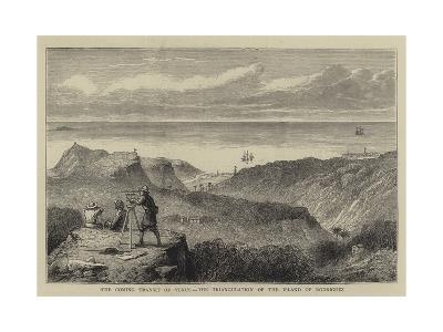 The Coming Transit of Venus, the Triangulation of the Island of Rodriguez--Giclee Print