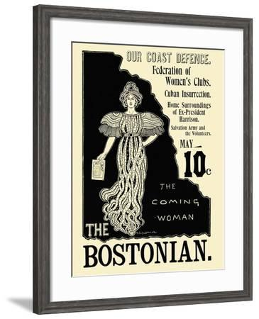 The Coming Woman. the Bostonian.--Framed Art Print