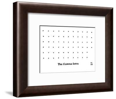 The Comma Sutra. Images of commas in different positions. Play on The Kama? - New Yorker Cartoon-Paul Noth-Framed Premium Giclee Print