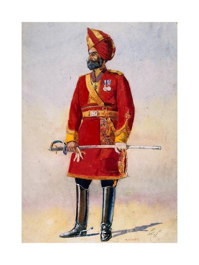 The Commandant of the Bharatpur Infantry, Illustration for 'Armies of India' by Major G.F.…-Alfred Crowdy Lovett-Giclee Print