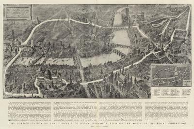 The Commemoration of the Queen's Long Reign, Bird'S-Eye View of the Route of the Royal Procession-Henry William Brewer-Giclee Print