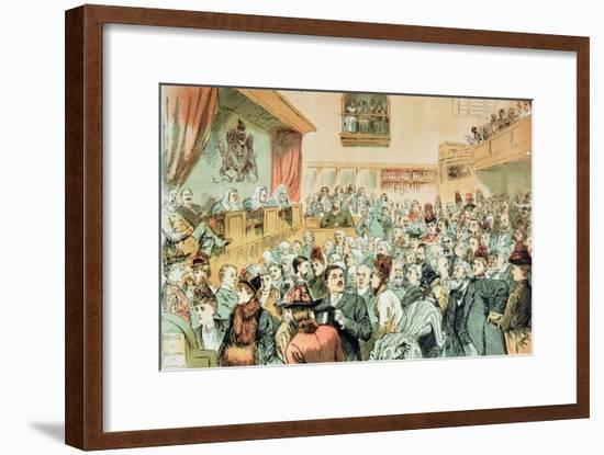 The Commission on Society, from 'St. Stephen's Review Royal Commission Number, Christmas, 1888-Tom Merry-Framed Premium Giclee Print