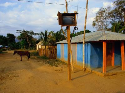The Community Television Set in the Small Village of La Victoire-James P^ Blair-Photographic Print