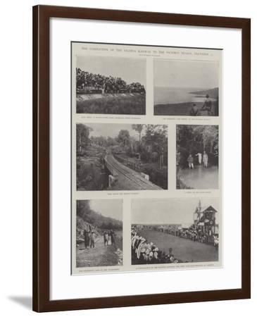 The Completion of the Uganda Railway to the Victoria Nyanza, 19 December--Framed Giclee Print