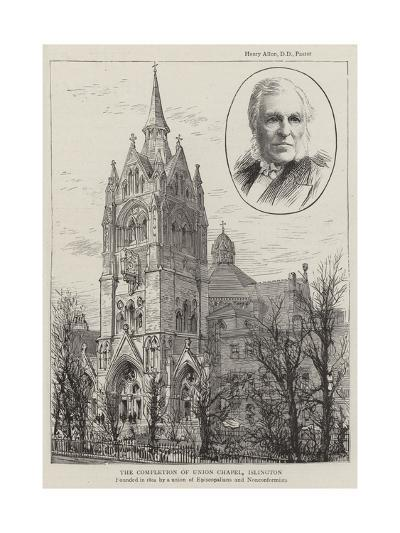 The Completion of Union Chapel, Islington--Giclee Print