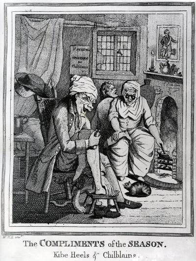The Compliments of the Season, Kibe Heels and Chillblains, C.1785-Henry William Bunbury-Giclee Print