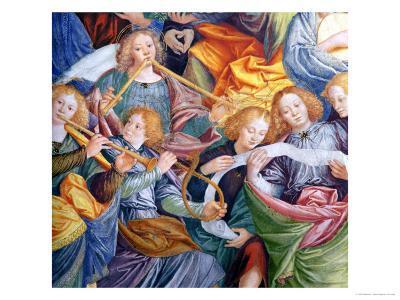 The Concert of Angels, 1534-36 (Detail)-Gaudenzio Ferrari-Giclee Print