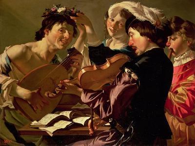 The Concert-Theodore van Baburen-Giclee Print