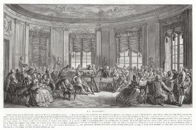 The Concert-Augustin De Saint-aubin-Giclee Print