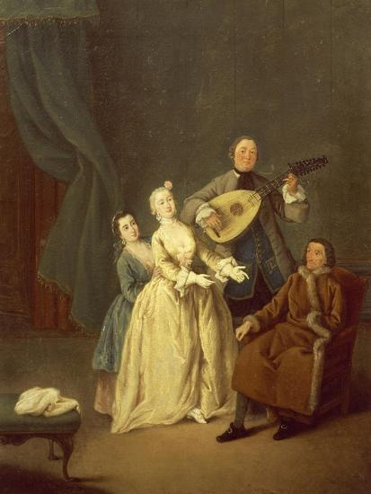 The Concerto or the Family in Concert, 1752-Pietro Longhi-Giclee Print